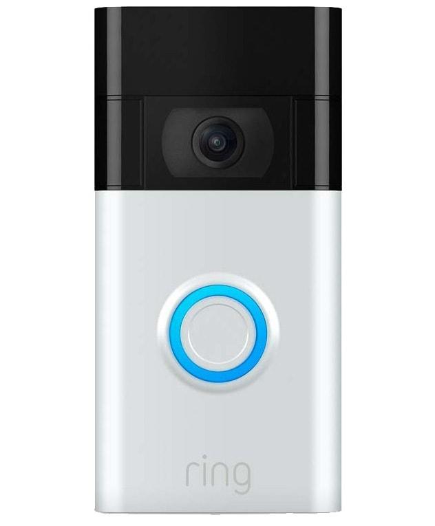 ring video deurbel gen. 2 grijs van voren