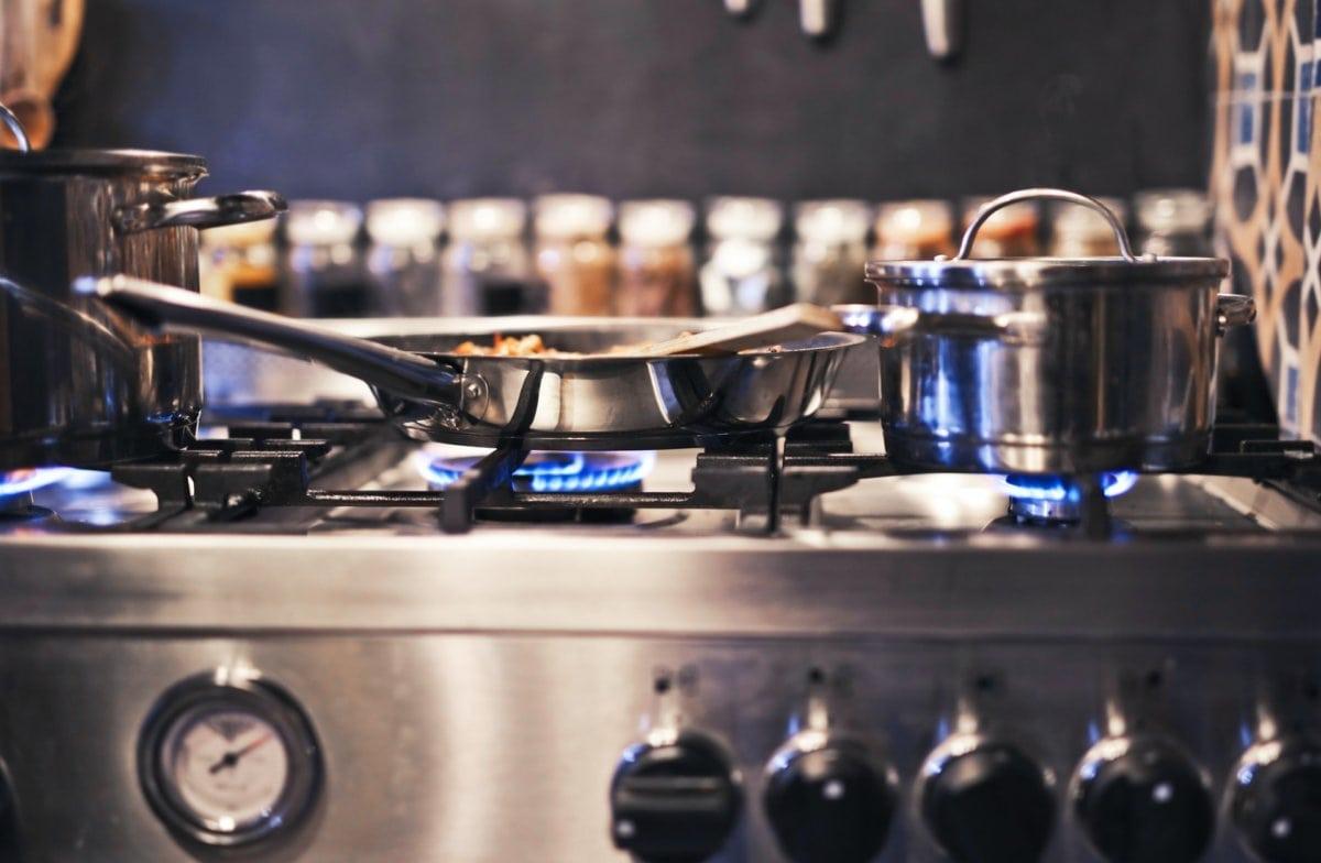 Op gas koken