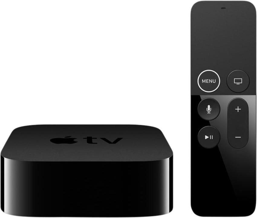 Apple tv met afstandsbediening vooraanzicht