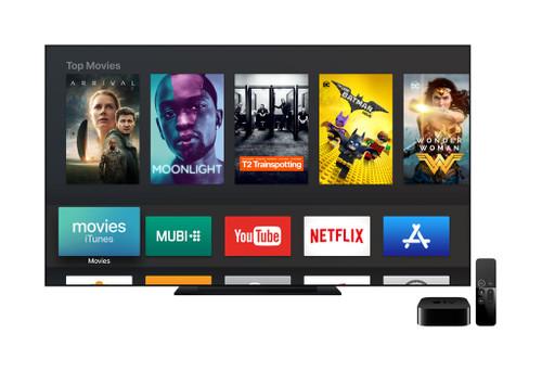 Apple tv interface vooraanzicht