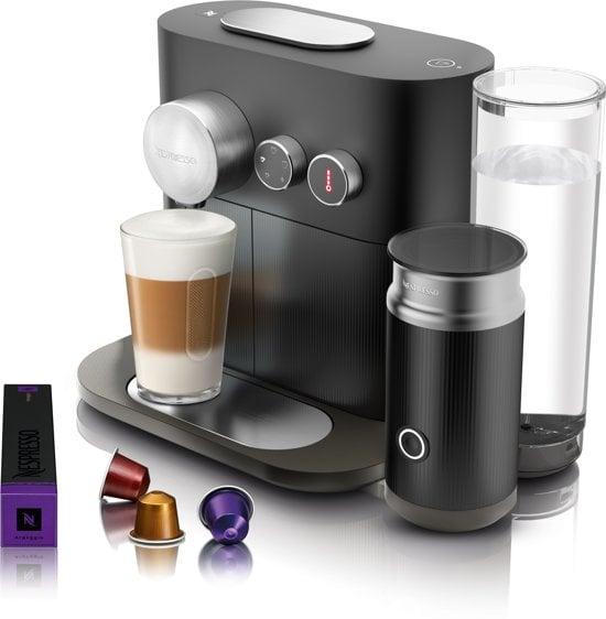 Expert milk Nespresso met accessoires, zij-aanzicht