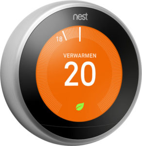 Google Nest Thermostaat Vooraanzicht 292x300