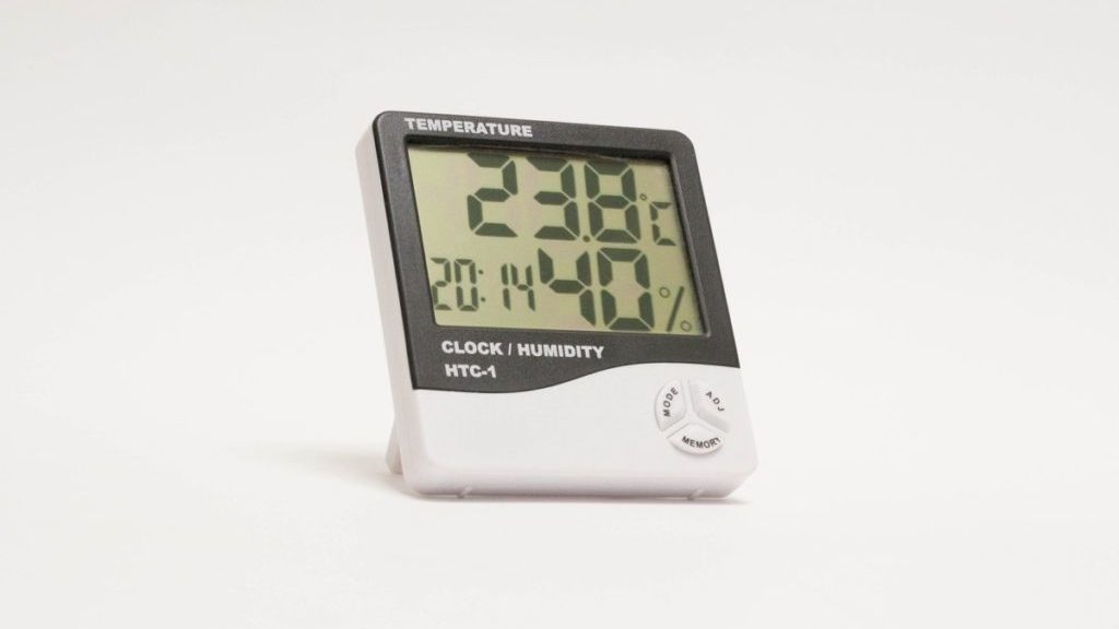 Hygrometer, vooraanzicht
