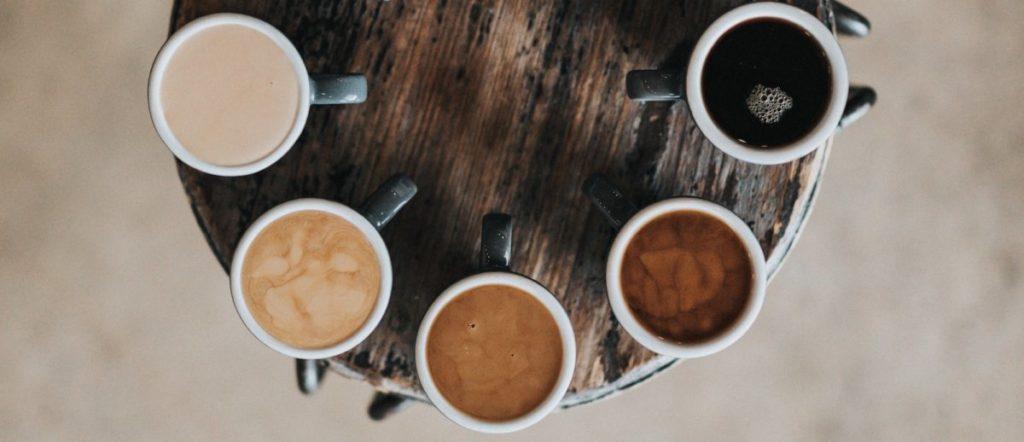 Koppen Koffie van boven
