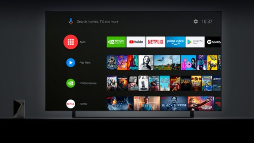 Nvidia interface vooraanzicht