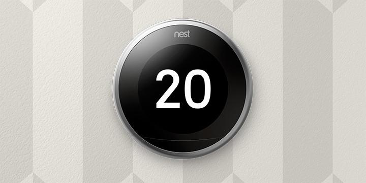 Nest thermostaat aan de muur