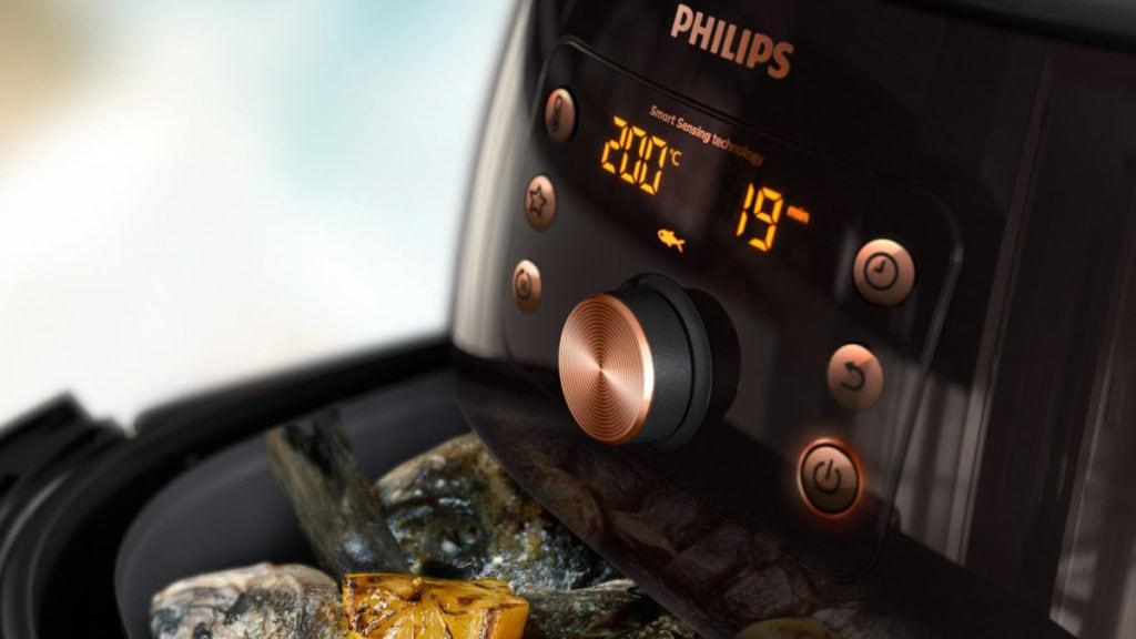 Philips airfryer met sardientjes