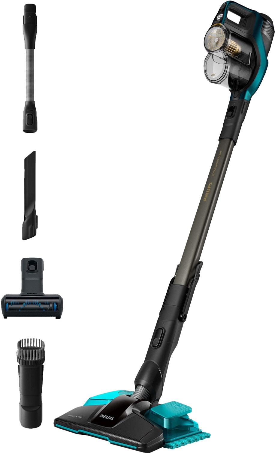 Philips steelstopfzuiger met accessoires, vooraanzicht