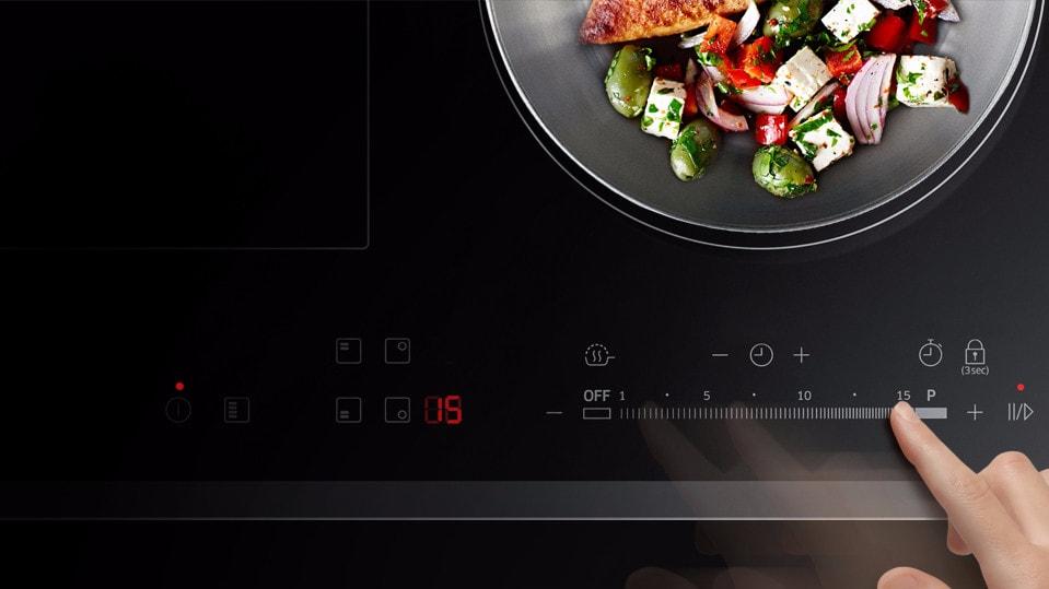 Inductie kookplaat bovenaanzicht