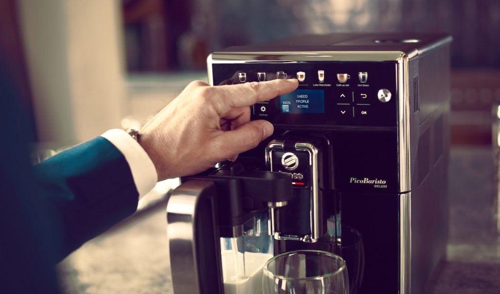 Koffiemachine vooraanzicht