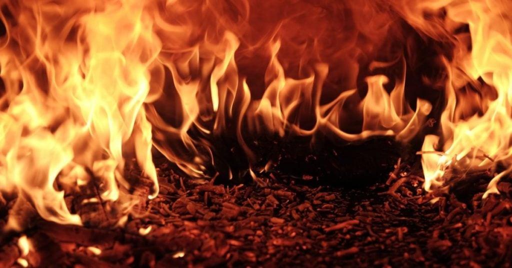 Close up van brandend vuur