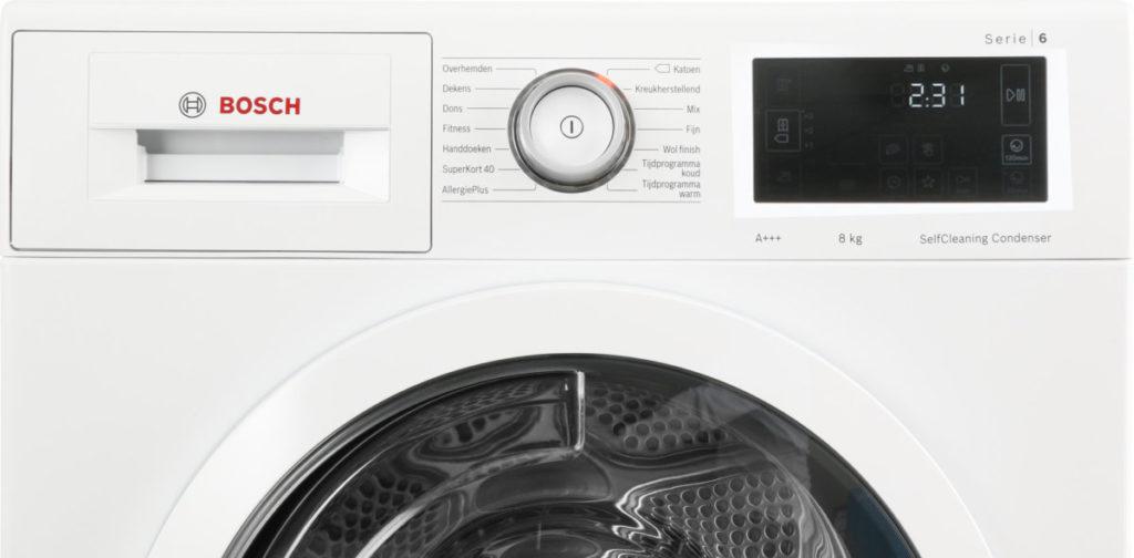 Bediening van Bosch wasdroger