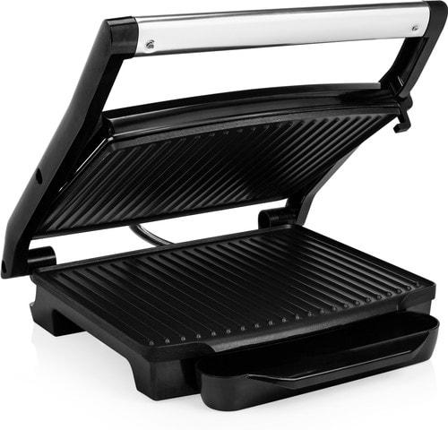 Contact grill met open deksel, vooraanzicht