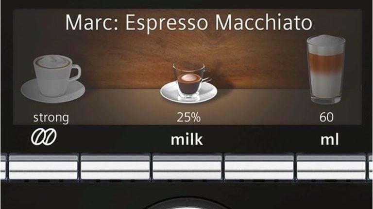 scherm knoppen espressomachine