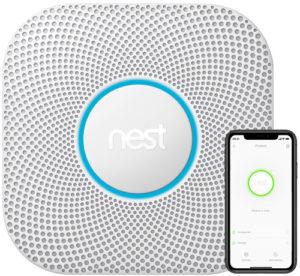 Nest koolmonoxidemelder onderaanzicht
