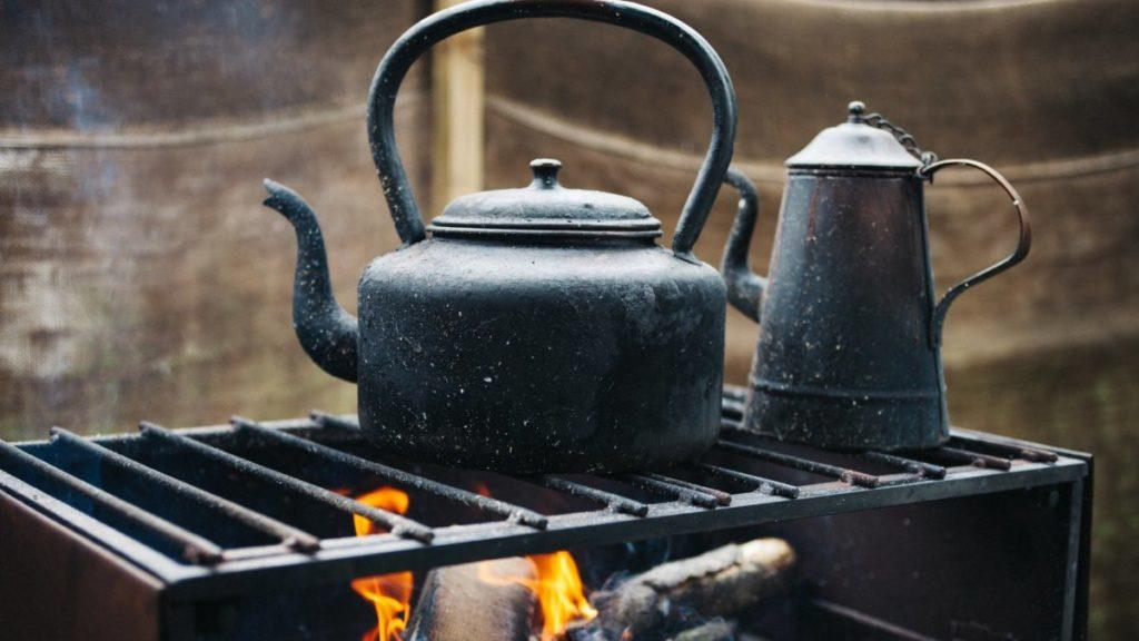 Waerketel op open vuur