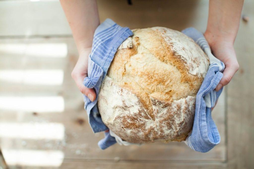 Vers brood, bovenaanzicht