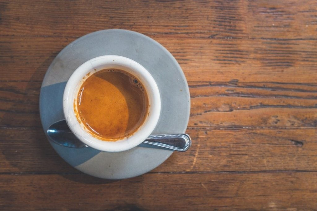 Espresso van bovenaf