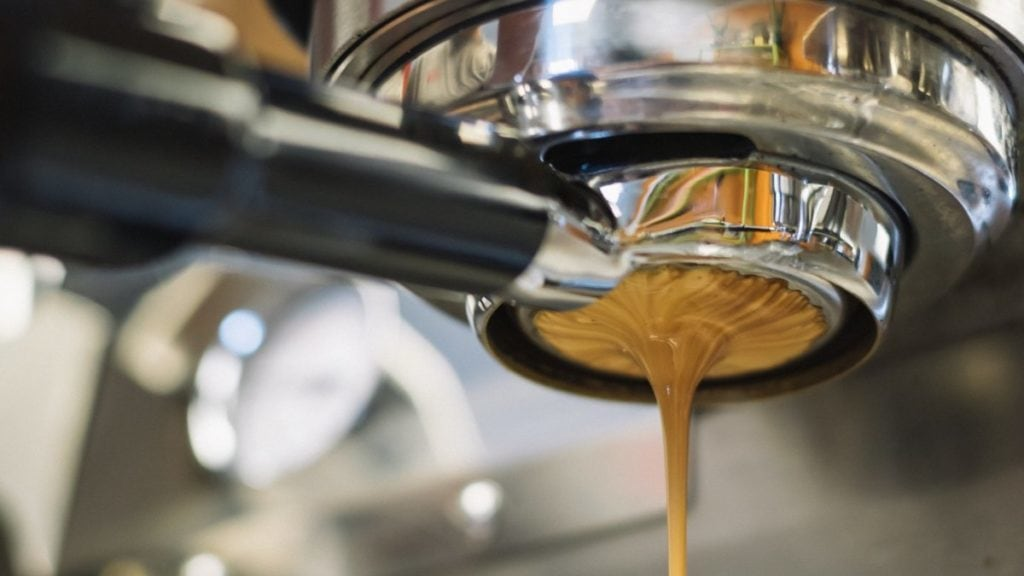 Koffie uit piston