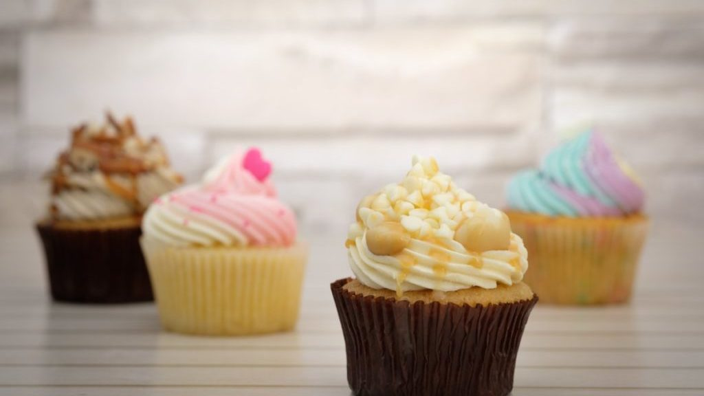 Cupcakes vooraanzicht