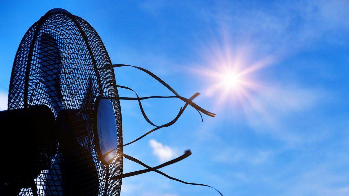 Ventilator in de zon