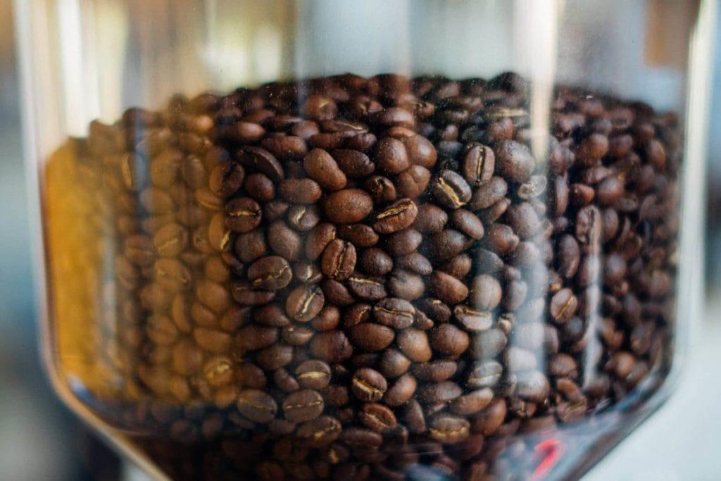 Koffiebonen vooraanzicht