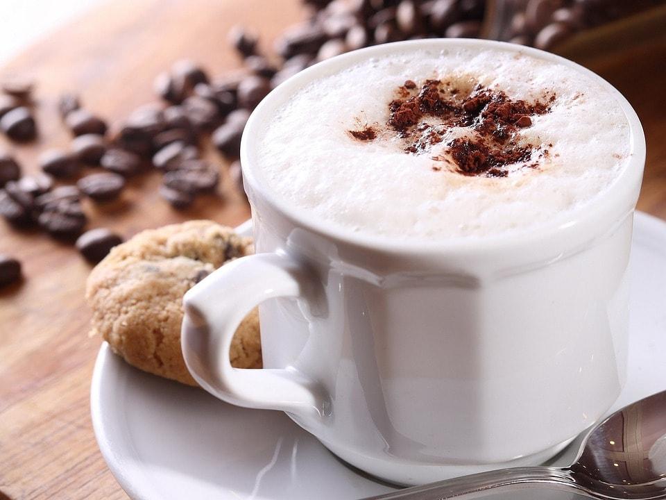Cappuccino bovenaanzicht