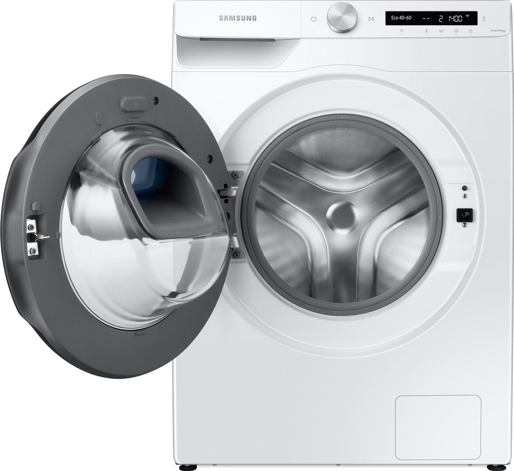 Samsung Addwash wasmachine met open deur, vooraanzicht
