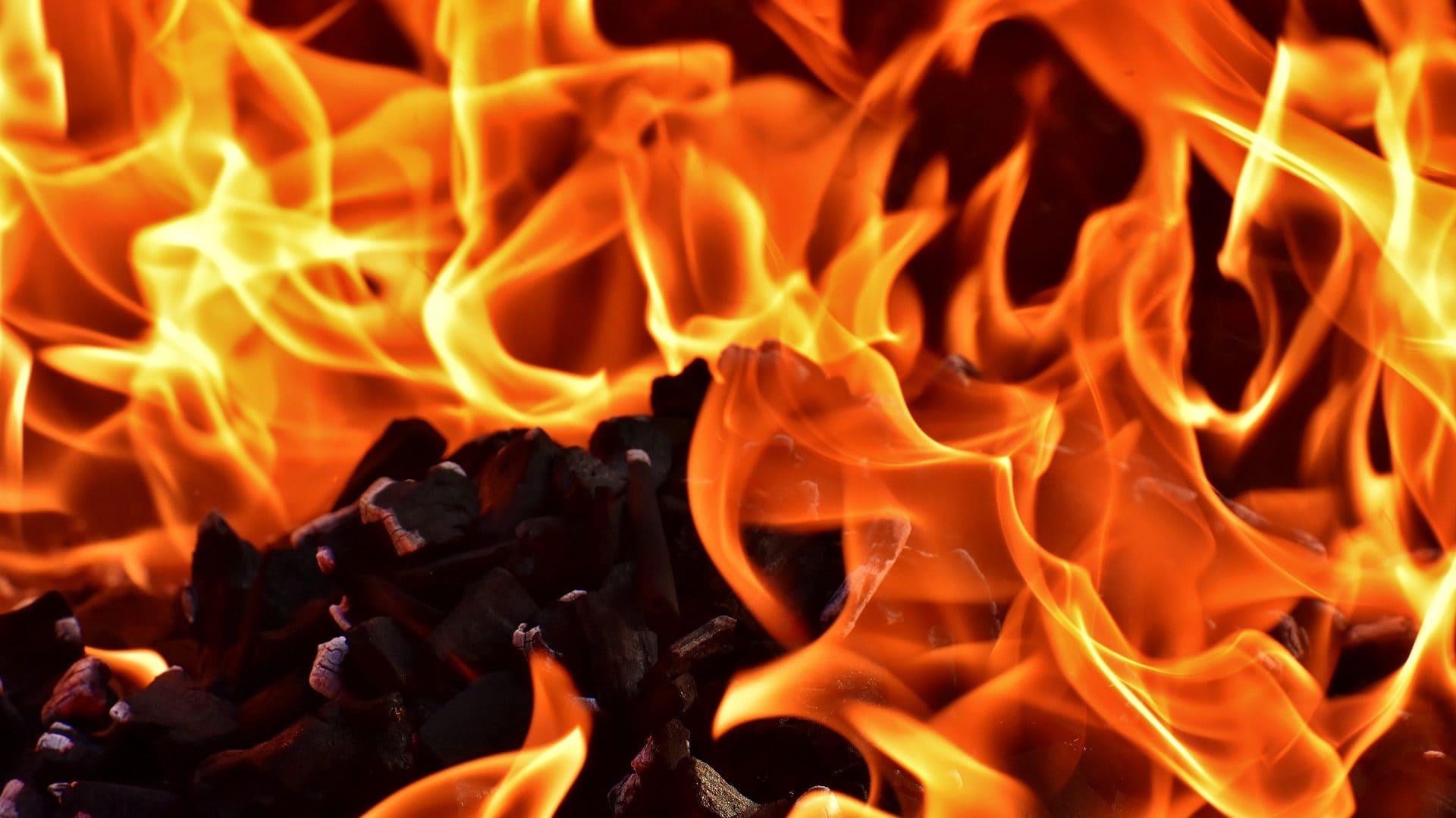 Vlammen close-up