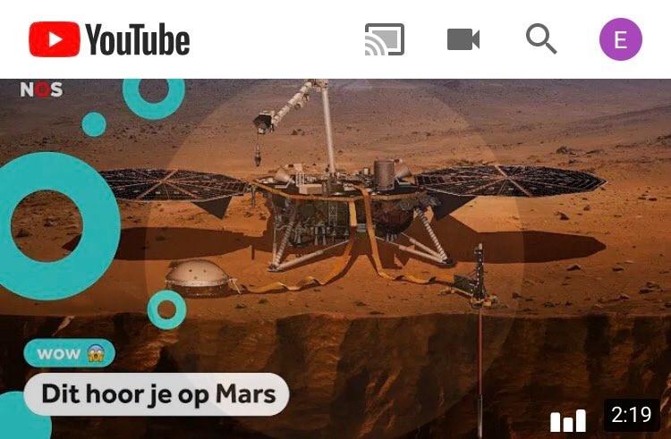 Youtube met chromecast button