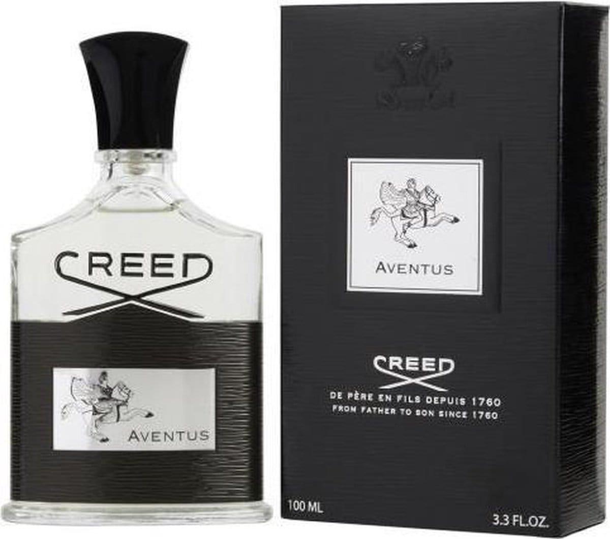 Creed Aventus met doosje, vooraanzicht