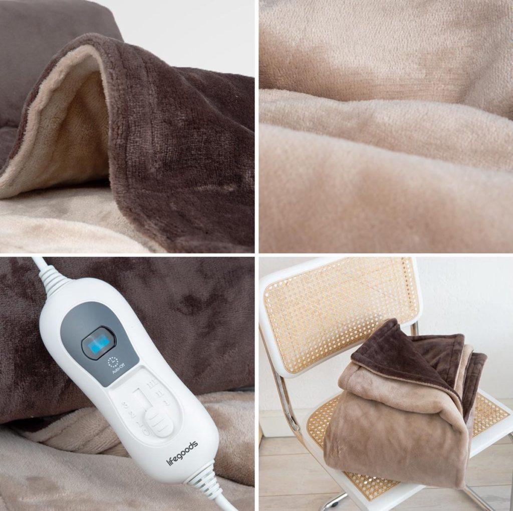 Elektrische deken vanuit verschillende hoeken