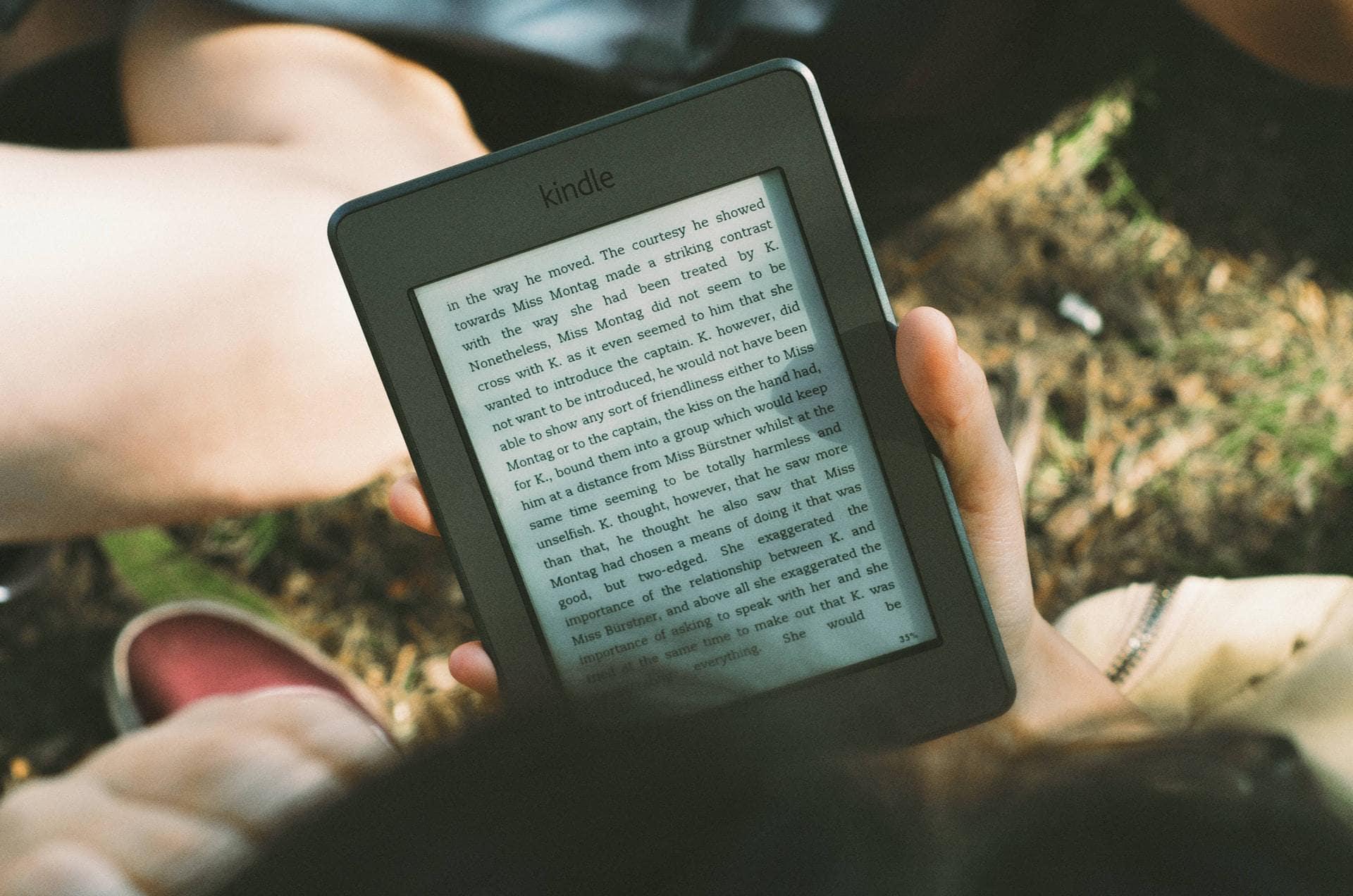 Kindle e-reader vooraanzicht