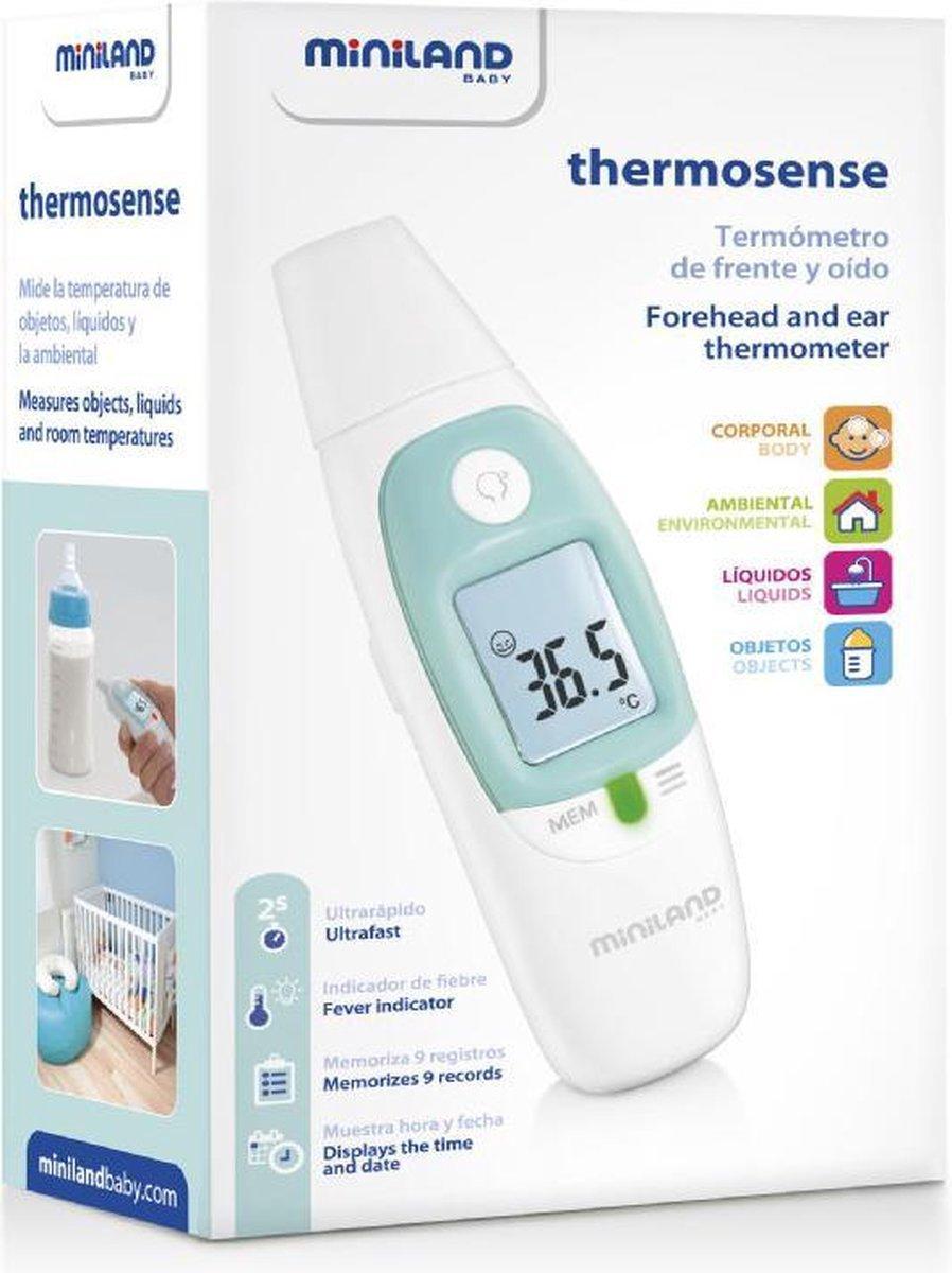 Miniland thermometer in doos, vooraanzicht