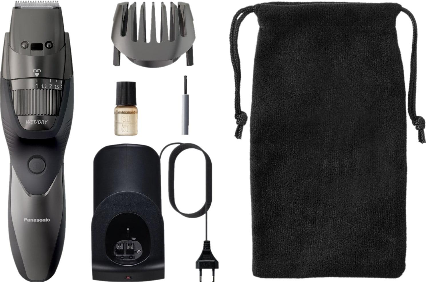 Panasonic baardtrimmer met accessoires, bovenaanzicht