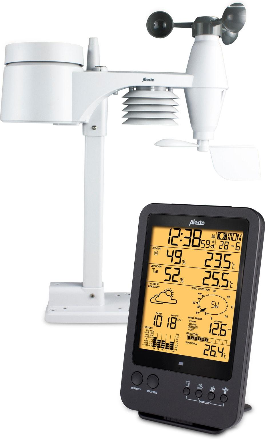 Alecto Ws4700 met sensoren, vooraanzicht