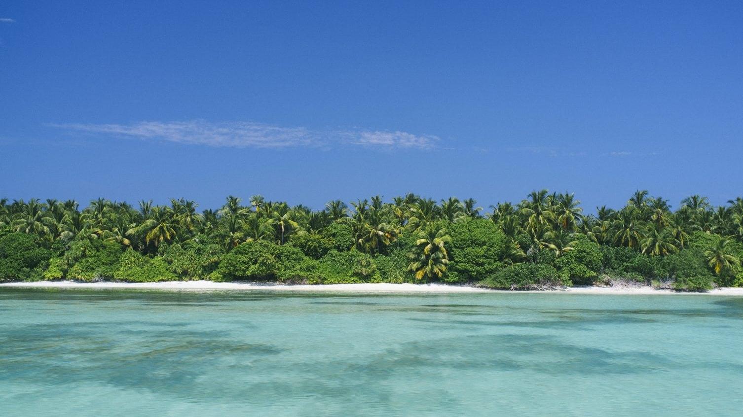 Vooraanzicht van een tropisch eiland