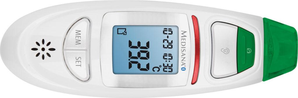 Voorhoofdthermometer, bovenaanzicht