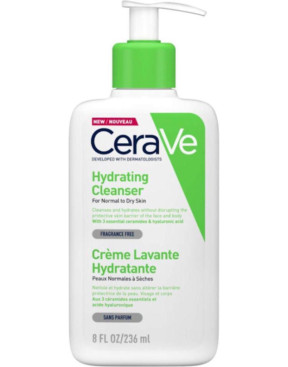 cerave hydrating cleanser witgroene fles van voren