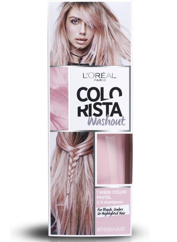 l'oréal paris colorista washout haarverf pink