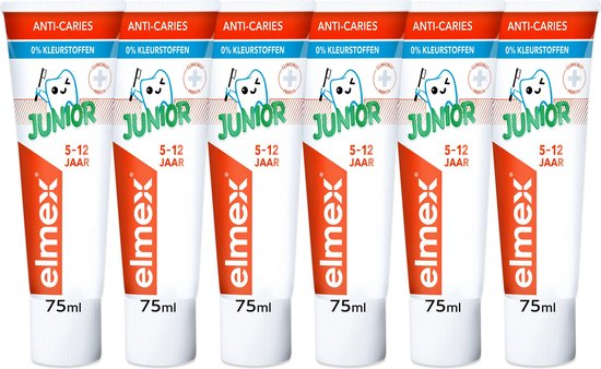 Elmex junior vijf tubes