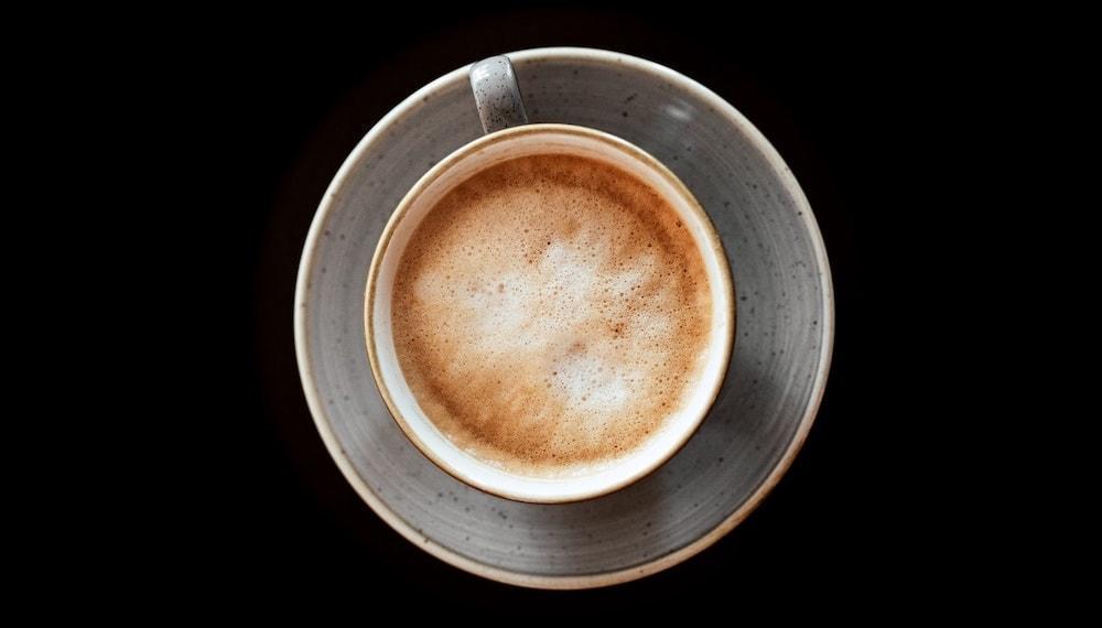 cappuccino van boven