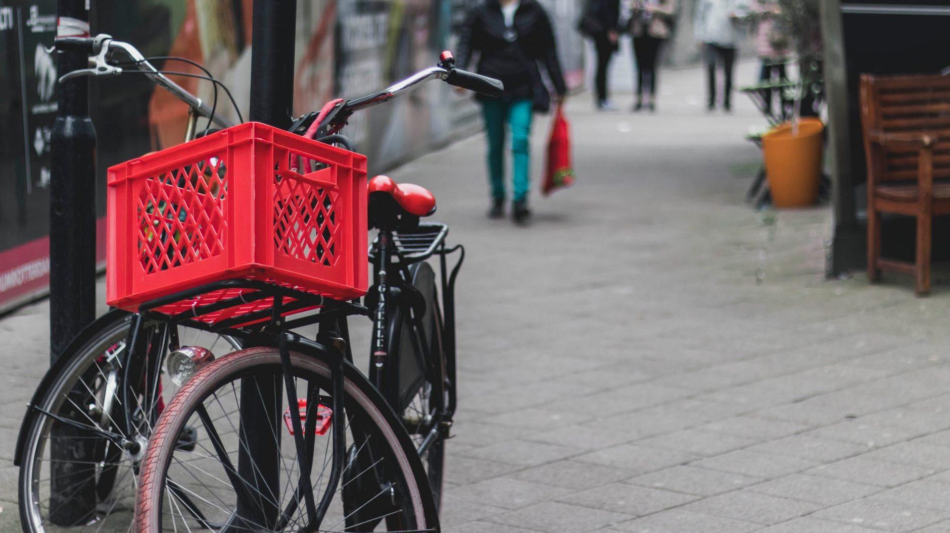transportfiets in de stad