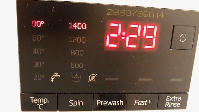 Display van een wasmachine, vooraanzicht