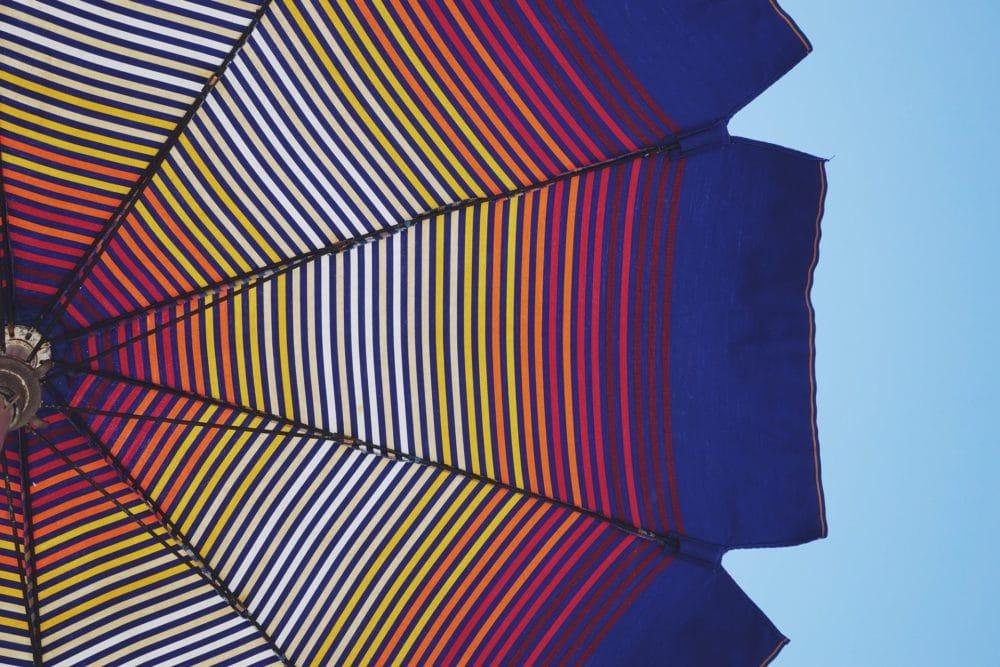 Gestreepte parasol, onderzijde