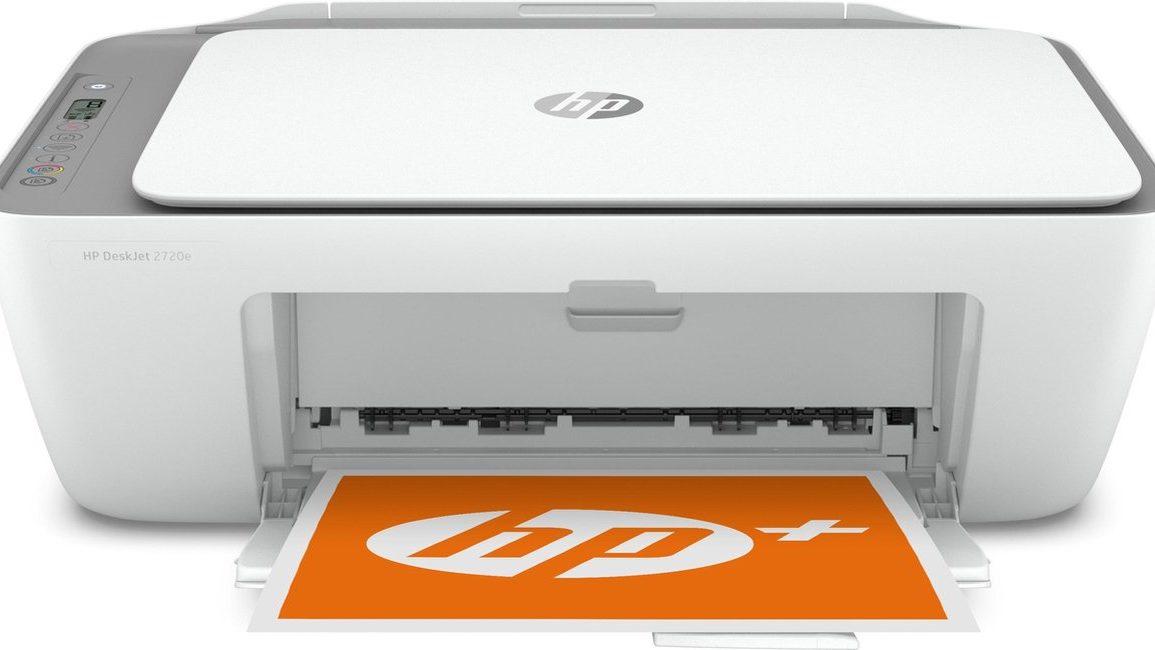 Witte printer van HP, vooraanzicht