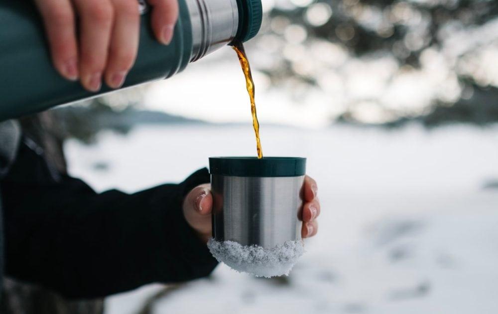 Koffie in Thermoskan, vooraanzicht