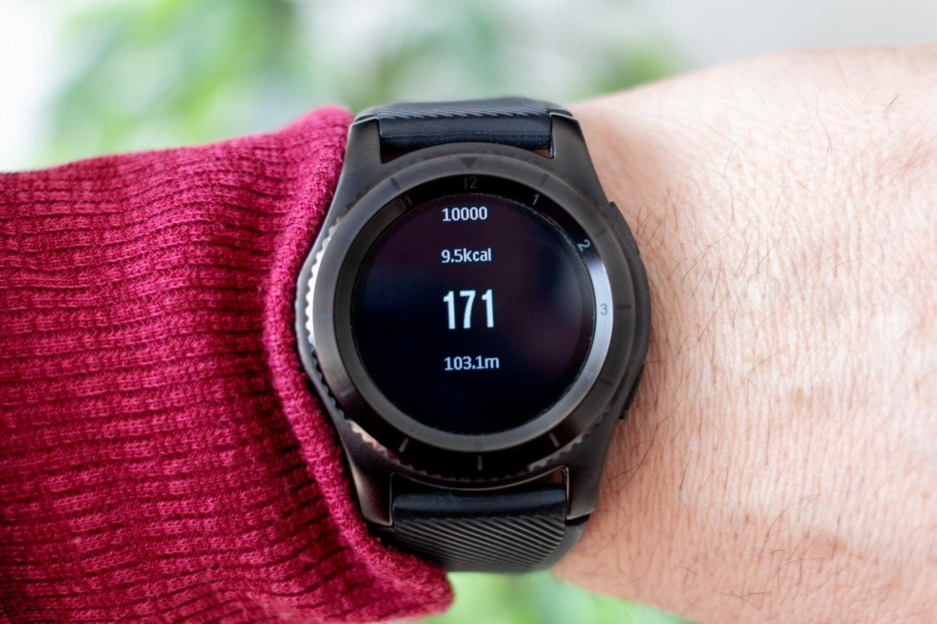Hartslagmeter in horloge, bovenaanzicht